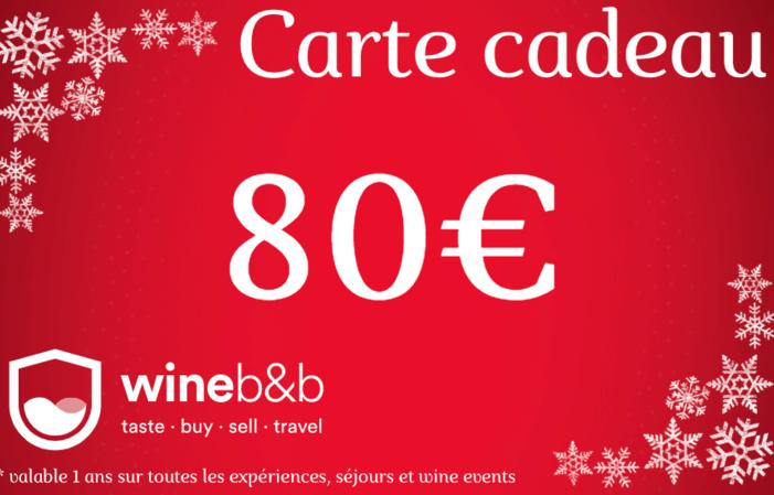 CARTE CADEAU WINEBNB 80€
