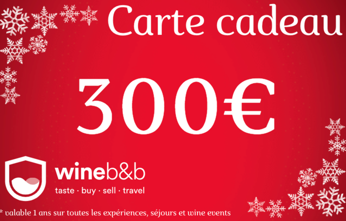 CARTE CADEAU WINEBNB 300€
