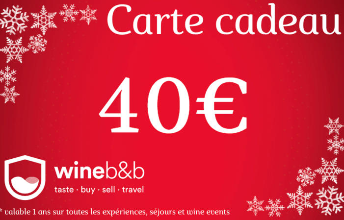 CARTE CADEAU WINEBNB 40€
